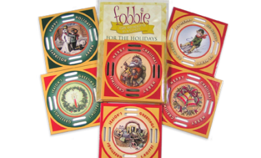 Vintage Christmas Fobbies 6 Pack